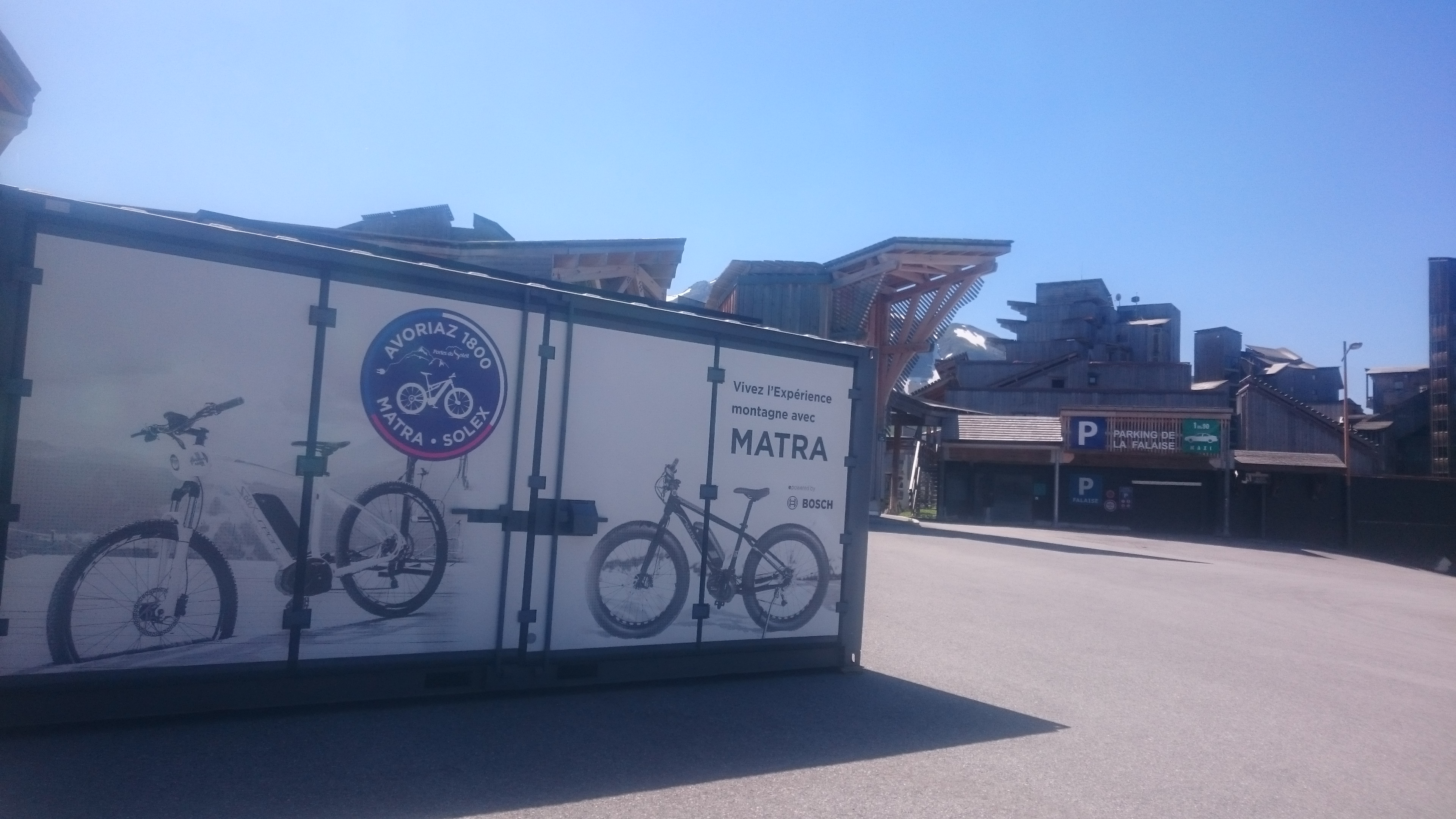 Station vélo électrique à Avoriaz
