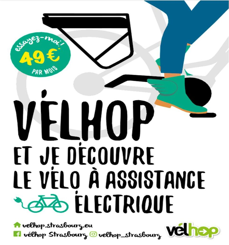Vélo électrique Strasbourg velhop