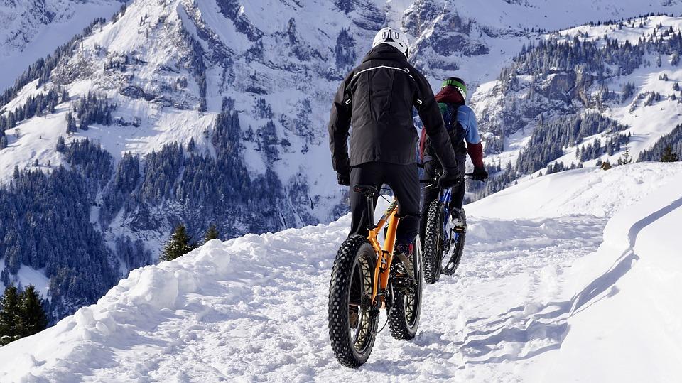 FAt Bike sur la neige.