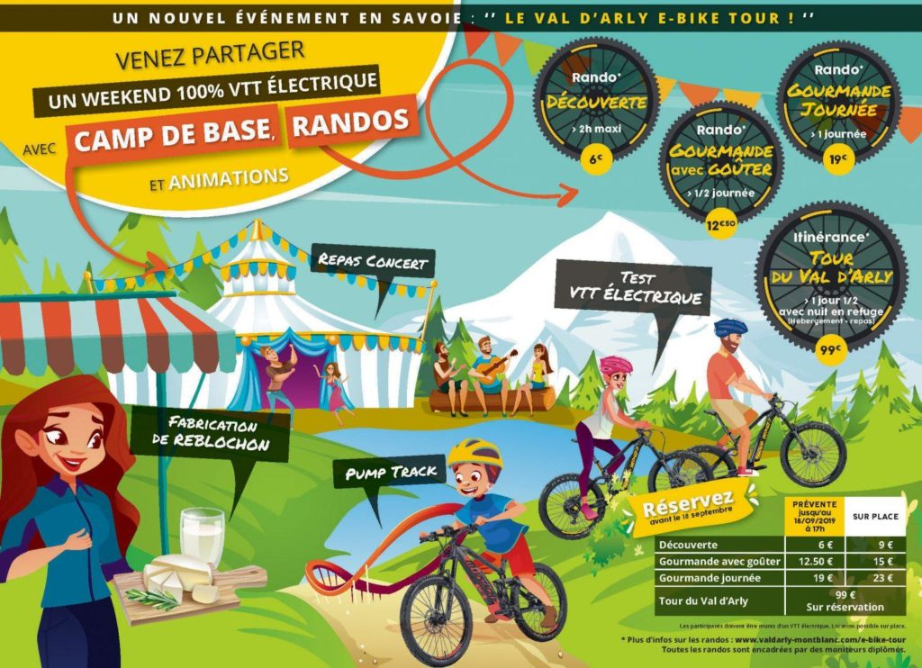 Affiche Val d'arly Ebike Tour