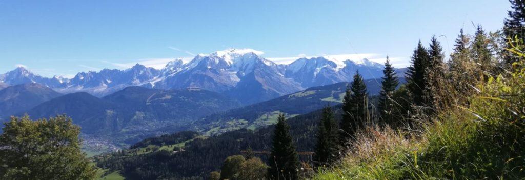 Vue Mont Blanc depuis Cordon