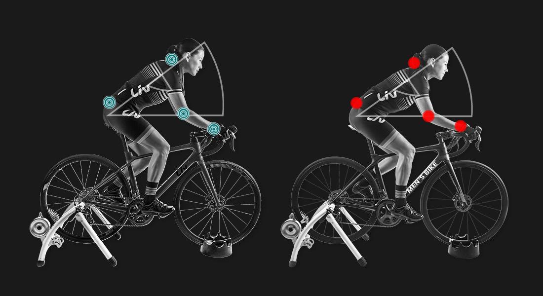 Position femme sur vélo