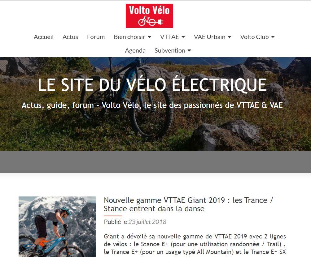 Site Volto Vélo