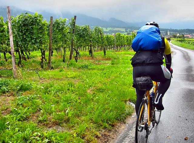 Vélo sous la pluie