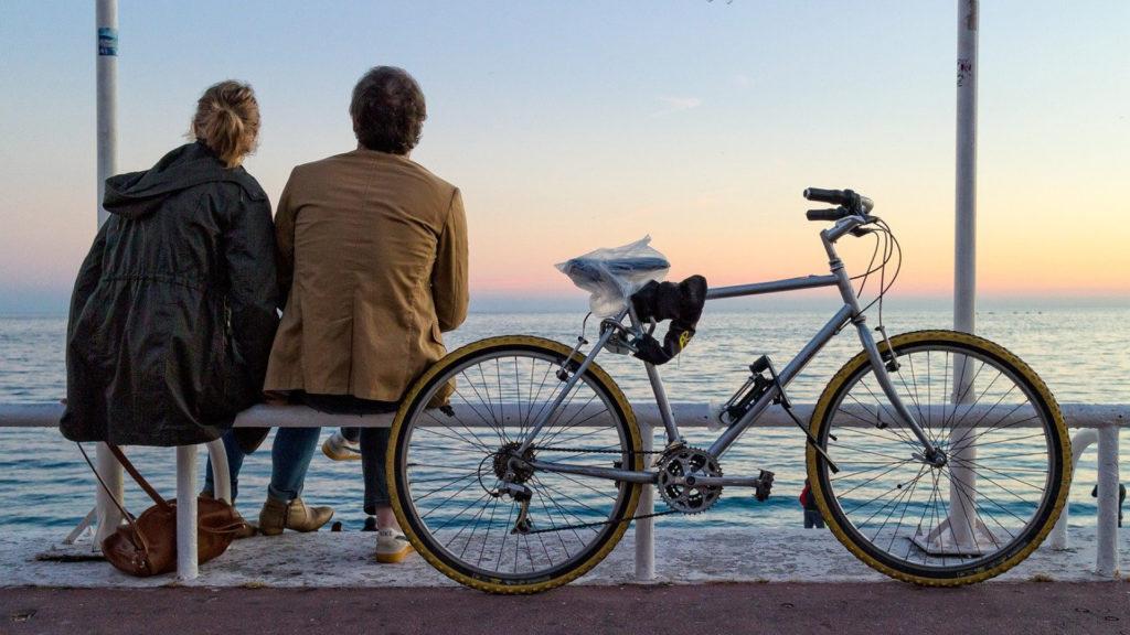 Vélo en bord de mer